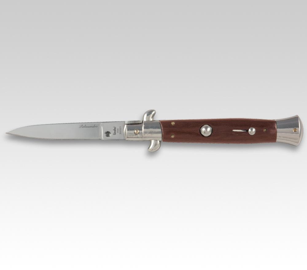 Hochwertiges Springmesser mit Palisander-Schalen schwere Ausführung