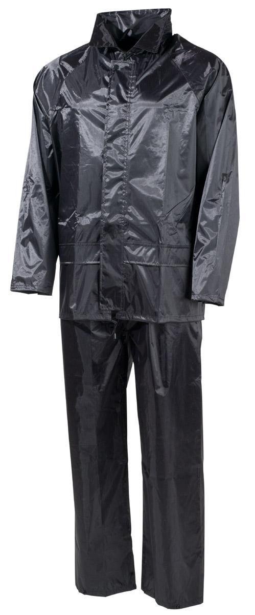 Regenanzug, Polyester, schwarz
