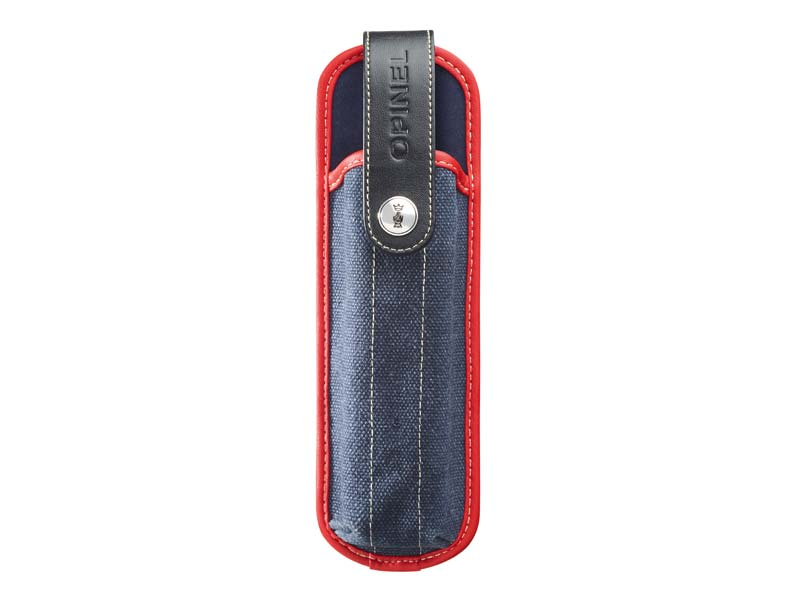 Opinel Messer-Etui XL, blau/rot, für Opinel Nr. 10, 12, Explore 12 u. Säge