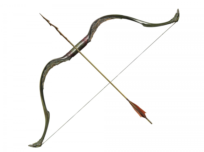 Elbenbogen der Waldelbin Tauriel HDR, Der Hobbit Pfeil und Bogen