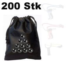 200 Stück Ersatz-Kugeln Stahlkugeln für Schleuder