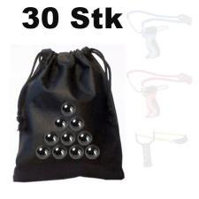 30 Stück Ersatz-Kugeln Stahlkugeln für Schleuder