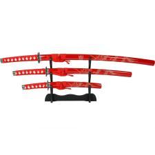 3x Samuraischwert Garnitur Red Dragon Set