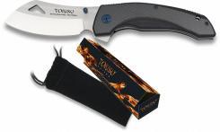 edles TOKISU Taschenmesser MOUNT Gürtelclip G10 Carbon-Look kräftiges Messer