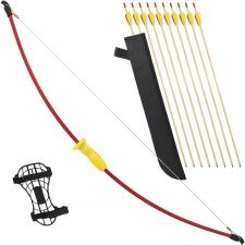 Kinder Set 10x Pfeil + Bogen mit Pfeilköcher und Unterarmschutz