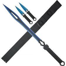 Schwert mit Rückenhalter und zwei Wurfmesser Fantasy