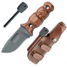 BlackFox 3-Finger-Messer, Stahl 440, Titan-beschichtet, Feuerstarter