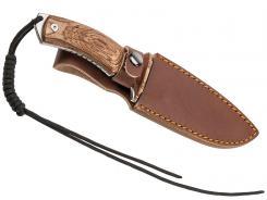 BlackFox Outdoormesser Tora 440 Full-Tang Fingermulde Lederscheide
