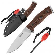 Buck Messer Pathfinder, HC-Stahl, Kydex-Scheide, Feuerstarter, Pfeife