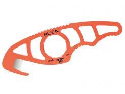 Buck PAKLITE 499 GUTHOOK, orange, 420 HC Stahl, rostfrei, Nylonscheide