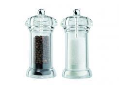 David Mason Design Salz- und Pfeffermühlen-Set,Galaxy aus transparentem Acryl,Polyacetal-Mahlwerk,gefüllt