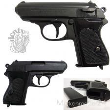 deutsche Polizeipistole, 2. Weltkrieg, Deko Nachbau Schusswaffe Metall