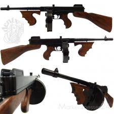Thompson M1 Mafia-MP Maschinenpistole, Trommel-Magazin, 1928 Metal Deko-Waffe