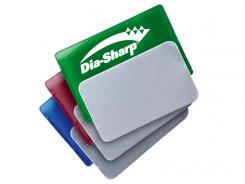 Dia-Sharp Diamantschäfer Kit, blau/grob, rot/fein, grün/extrafein, zum DMT-Farbcode passende Steckhüllen