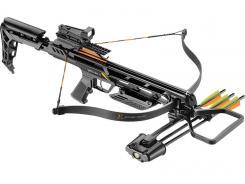 Ek-Archery Armbrust Jaguar II, Zuggewicht 79 kg (175lbs.), Alukörper, Sicherung, Red Dot Visier, Wachs, 3 Alubolzen