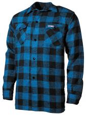 Holzfällerhemd, blau/schwarz, kariert Hemd Jacke Luberjack