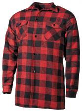 Holzfällerhemd, rot/schwarz, kariert Hemd Jacke Luberjack