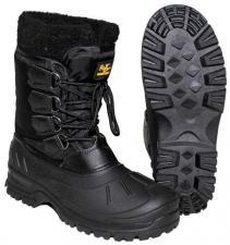 Kälteschutzstiefel, geschnürt, schwarz warme wasserdichte Winter-Stiefel
