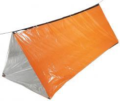 Notfall-Zelt, orange, einseitig alubeschichtet