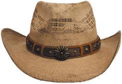 "Strohhut, ""Colorado"", mit Hutband, braun"