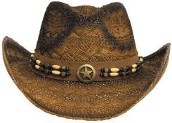 """Strohhut, """"Tennessee"""", mit Hutband, braun-schwarz"""