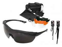 Edge Tactical Safety Eyewear, Overlord Kit, 4 Vapor Shield Gläser Schieß-Brille