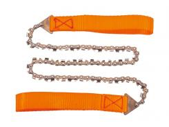 Herbertz Handkettensäge, 33 Manganstahl Sägezähne, orange, Etui