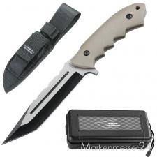 TOP-Collection Outdoor-Messer, 440 Tanto,G10-Griff,Nylonscheide