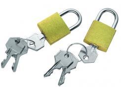 Vorhängeschlösser für den Rucksack,Messing,2er-Packung,