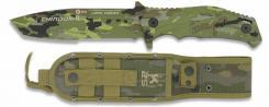 Einsatzmesser CHINOOK II Flecktarn ca 4, 2 mm Tanto Klinge Molle Scheide