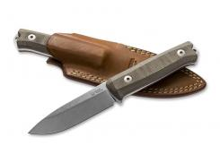 B40 Canvas-Micarta Bushcraft/ EDC-Messer hochwertige Köcherscheide