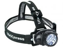 LiteXpress LIBERTY 102 Kopflampe, LEDs, schwenkbar incl. Batterien
