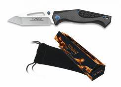edles TOKISU Taschenmesser Tanto Schäkel G10 Carbon-Look kräftiges Messer