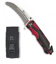 K25 Rettungsmesser Taschenmesser mit Wellenschliff Gürtelclip Etui