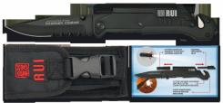 Rettungsmesser  RUI Taschenmesser Titan beschichtet Taschenlampe Feuerstarter