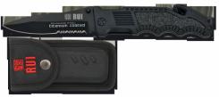 Rettungsmesser RUI Taschenmesser Titan beschichtet mit Nylon-Etui