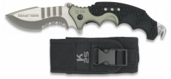 RUI Einsatz-Taschenmesser Titan beschichtet + Nylon-Etui Teilwellenschliff