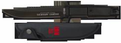 RUI schwarz Titan beschichtetes Einsatzmesser mit Säge