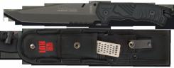 RUI schwarz Titan beschichtetes Einsatzmesser mit Teilwellenschliff