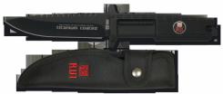 RUI schwarz Titan beschichtetes Outdooresser mit Rückensäge