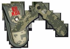 RUI taktisches Tanto-Taschenmesser Titan beschichtet mit Clip