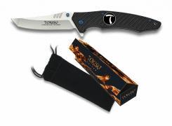 TOKISU Taschenmesser 9cm Tanto Swing G10 7Cr17MoV  in Geschenk-Box