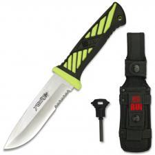 Yowie RUI SERIE ENERGY Neon Green Messer Survival Feuerstarter