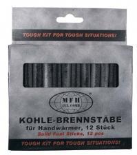 12 Ersatzbrennstäbe für Handwärmer Kohle-Stifte