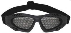 Airsoftbrille, oliv, Metall-Gittereinsatz, Deko