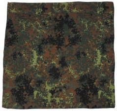 Bandana, flecktarn, Gr. 55 x 55 cm, Baumwolle Mundschutz Mund- Nase- Schutz