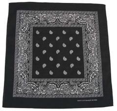 Bandana, schwarz-weiß, Gr. 55 x 55 cm, Baumwolle