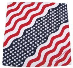 Bandana, Stars und Stripes, Gr. 55 x 55 cm, Baumwolle, USA Flagge Kopftuch