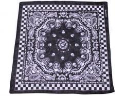 Bandana, Totenkopf, schwarz- weiß,Gr. 55 x 55 cm, Baumwolle