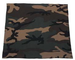 Bandana, woodland, Gr. 55 x 55 cm, Baumwolle